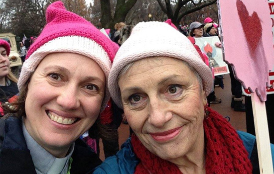 Women's March on Washington Rev. Nanette Pitt and Sarah Vradenburg